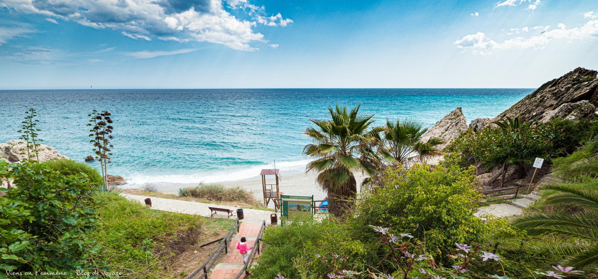 Playa Carabeo à Nerja