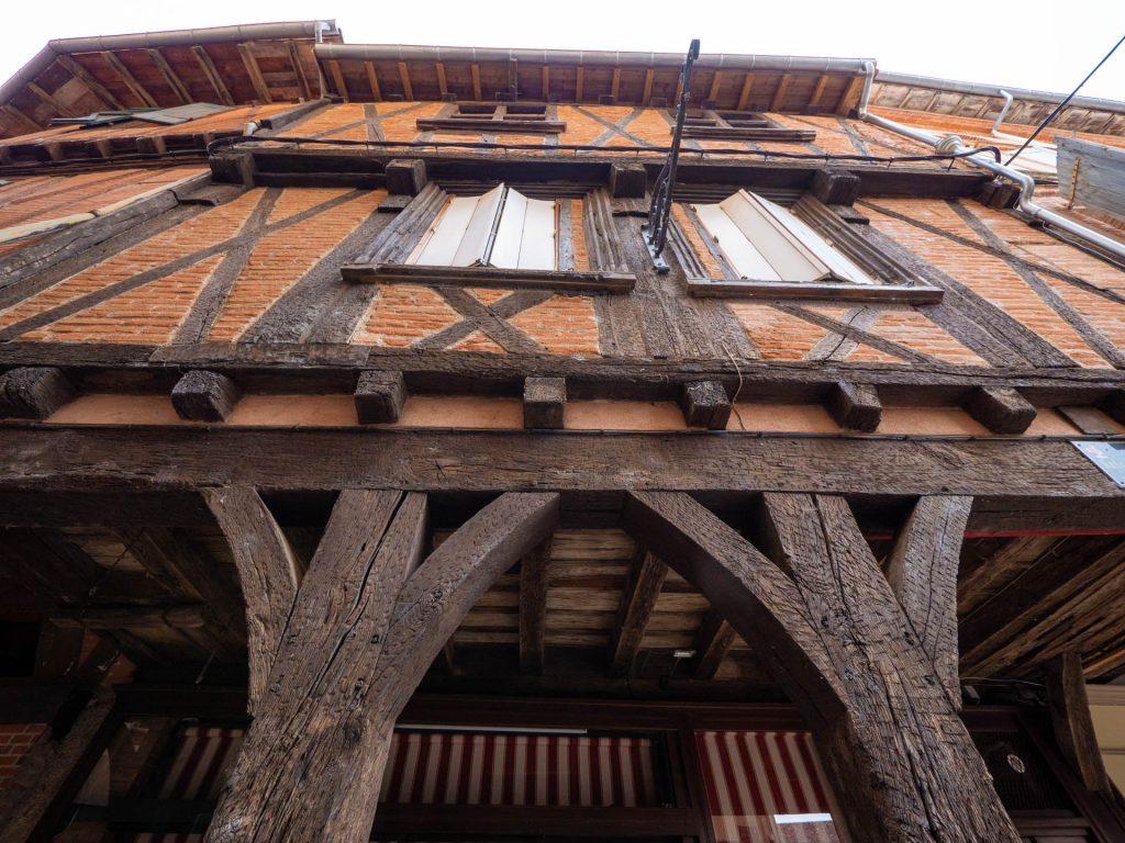 Maison à colombages, place du Griffoul