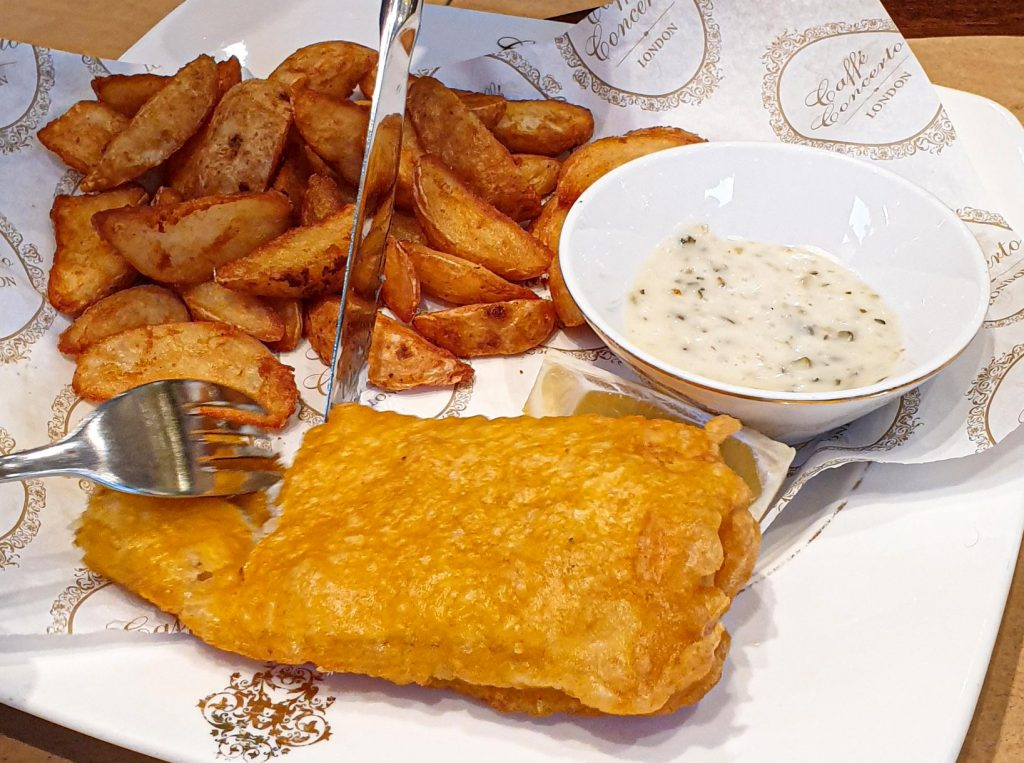 Le traditionnel Fish & chips
