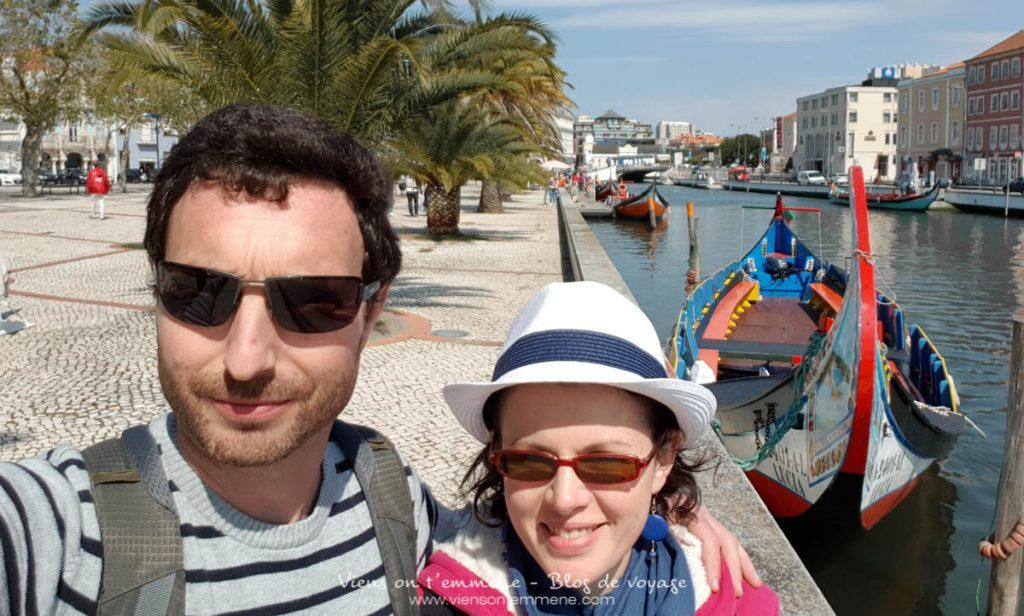 Les canaux et les bateaux d'Aveiro