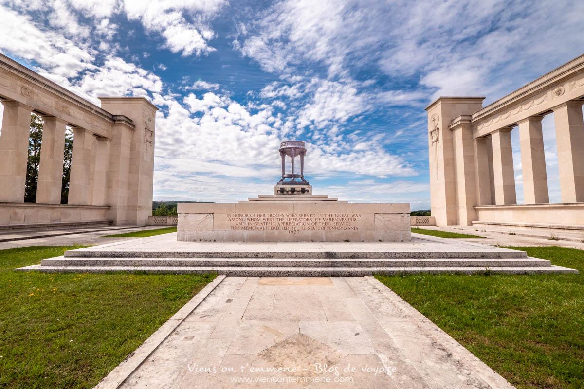Monument de Pennsylvanie à Varennes en Argonne